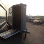 Ifor Williams HB403 1,5 paards trailer zilver paardentrailer PAK Aanhangwagens vooruitloop