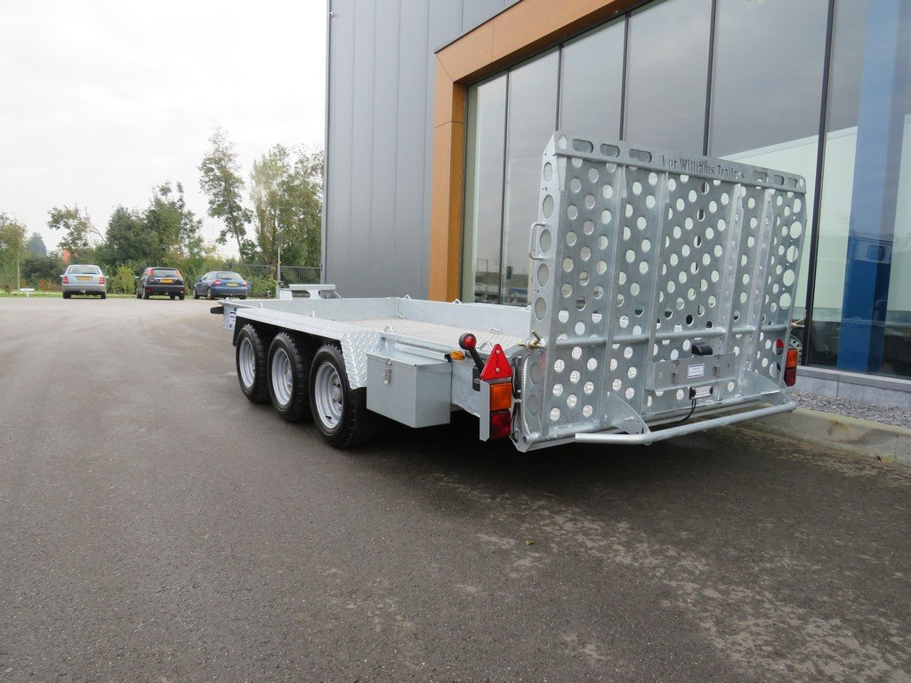 Ifor Williams GH146 machinetransporter 419x184cm 3500kg tridemas Ifor Williams machinetransporter 419x184cm 3500kg PAK Aanhangwagens achterkant
