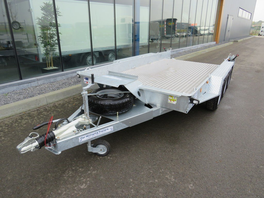 Ifor Williams GH146 machinetransporter 419x184cm 3500kg tridemas Ifor Williams machinetransporter 419x184cm 3500kg PAK Aanhangwagens voorkant
